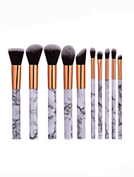 Beauty Cosmetic Professional Powder Foundation Makeup Full Marble Patterns Makeup Brush Set 10 Pcs Kit