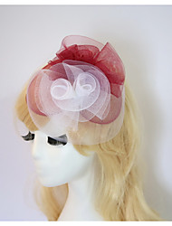 cheap -Gemstone & Crystal / Tulle / Resin Fascinators / Hats / Headpiece with Crystal / Feather 1 Wedding / Special Occasion / Halloween Headpiece