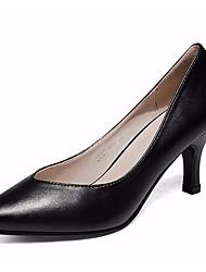 Feminino Saltos Sapatos formais Courino Primavera Outono Sapatos formais Salto Grosso Branco Preto 12 cm ou mais