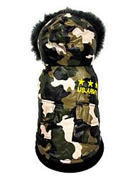Chien Combinaison-pantalon Vêtements pour Chien Chaud Respirable Décontracté / Quotidien Amérique / Etats-Unis Costume Pour les animaux