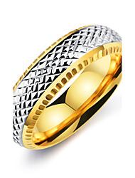 Herrn Ring Vintage Elegant Titanstahl Runde Form Schmuck Für Hochzeit Party Verlobung Alltag Zeremonie