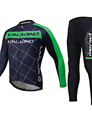 ILPALADINO Cycling Jersey with Tights Unisex Long Sleeves Bike Jersey Clothing Suits Tops Waterproof Quick Dry Windproof Insulated