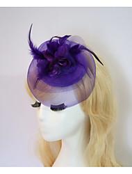 baratos -Resina / Algodão Fascinadores / Flores / Chapéus com 1 Casamento / Ocasião Especial / Halloween Capacete