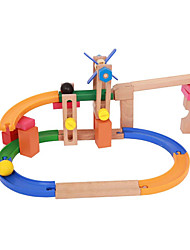 cheap -Toy Cars Marble Track Set Toys 3D Wood High Quality 1 Pieces Children's Christmas Children's Day Gift