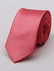 cheap -Men's Cotton Cotton Blend Neck Tie,Neckwear Solid Red Gray Purple Light Blue Khaki