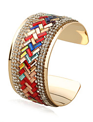 cheap -Women's Bangles Cuff Bracelet Fashion Punk Rock Rainbow Gothic Ferroalloy Metal Alloy Geometric Jewelry ForGift Stage Match Date Street