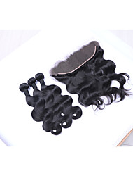 cheap -Natural Color Hair Weaves Brazilian Texture Body Wave More Than One Year Four-piece Suit hair weaves