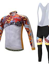 Manga Longa Camisa com Calça Bretelle Moto Conjuntos de Roupas, Secagem Rápida