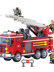 Недорогие -Конструкторы Игрушечные машинки Пожарная машина Игрушки Куски Не указано Подарок