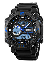 cheap -Skmei® Men's Outdoor Sports Multifunction Dual Time Zones Wrist Watch 50m Waterproof Assorted Colors