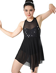 MiDee Ballet Dance Dancewear Adults' Children's Sequin Lyrical Dress Kids Dance Costumes