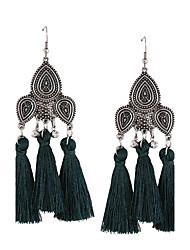 cheap -Women's Drop Earrings - Personalized, Tassel, Bohemian Black / Red / Green For Wedding / Anniversary / Housewarming