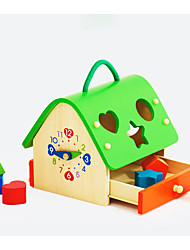 cheap -Building Blocks Educational Toy Pegged Puzzles Toys House Kid Pieces