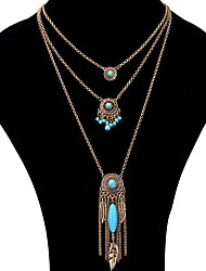 Pendant Necklaces Chain Necklaces Women's Layered Necklaces Alloy Tassel Friendship Bohemian Party Daily Casual Gift Movie Jewelry