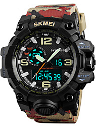 cheap -SKMEI Men's Sport Watch / Military Watch / Wrist Watch Japanese Alarm / Calendar / date / day / Chronograph PU Band Fashion / Water Resistant / Water Proof / Dual Time Zones / Stopwatch / Noctilucent