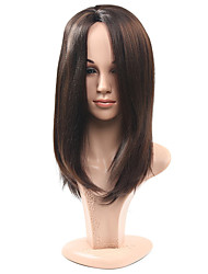 Long Brown Straight Natural Wig for Women Costume Cosplay Synthetic Wigs