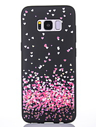 cheap -Case For Samsung Galaxy S8 S8 Plus Case Cover Little Love Pattern Scrub Black Thicker TPU Material Soft Case Phone Case