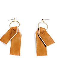 preiswerte -Damen Mädchen Tropfen-Ohrringe - Personalisiert Geometrisch Einzigartiges Design Klassisch Etikett Hypoallergen Modisch Gelb Geometrische