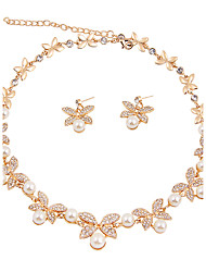 cheap -Women's Jewelry Set - Flower, Butterfly Classic, Simple Style, Fashion Include Bridal Jewelry Sets / Pearl Necklace Gold For Christmas / Christmas Gifts / Wedding / Party / Special Occasion