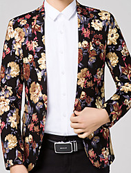 Men's Casual/Daily Work Party Casual Street chic Chinoiserie Spring Fall Blazer