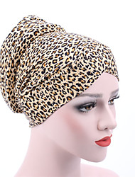 cheap -Women's Casual Cotton Floppy Hat - Oil Painting, Leopard Print