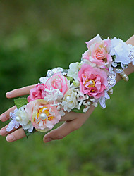 economico -Bouquet sposa Braccialetto floreale Matrimonio Cotone 8 cm ca. 5 cm ca.