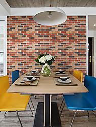 abordables -Art Decó Ladrillo Geométrico Fondo de pantalla Para el hogar Moderno / Contemporáneo Revestimiento de pared , PVC/Vinilo MaterialAuto