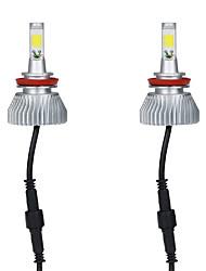 cheap -KKmoon One Pair of 30W H8/H9/H11 COB LED Light Car Headlight Fog Lamp Kit 6000K White