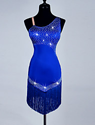 Shall We Latin Dance Dresses Women's  Spandex Organza Crystals Sleeveless