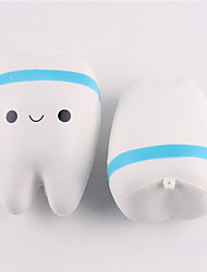 1pcs Cute Jumbo Squishy Simulation Tooth Decompression Hand Wrist Toy Slow Rising Rebound Stress Relief Squeezing Toy