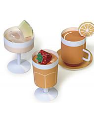 Недорогие -3D пазлы Игрушечная еда Оригами Квадратный Продукты питания 3D моделирование Своими руками Классика Универсальные Подарок