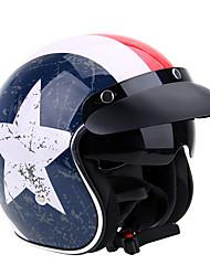 Half Helmet Simple Helmet with Googles Motorcycle Helmets