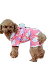 Chien Manteaux Vêtements pour Chien Décontracté / Quotidien Garder au chaud Formes Géométriques Rose Costume Pour les animaux domestiques