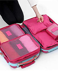cheap -6 sets Travel Bag Packing Cubes Travel Luggage Organizer / Packing Organizer Waterproof Dust Proof Foldable Durable Travel Storage