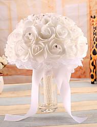 Bouquet sposa Bouquet Matrimonio Raso elasticizzato 20 cm ca.