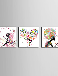 E-HOME® Stretched Canvas Art Butterfly Fairy Series Decoration Painting MINI SIZE One Pcs