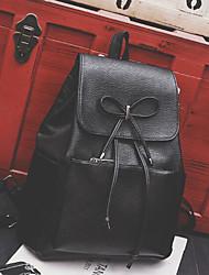 preiswerte -Damen Taschen PU Rucksack für Normal Ganzjährig Schwarz