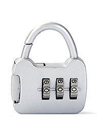 0000 Zinc Alloy Padlock Padlock 3 Digit Password Anti-Theft Mini Luggage Bag Luggage Stationery Lock Customs Lock Dail Lock Password Lock