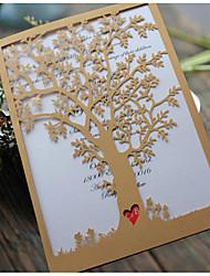 economico -Piegato da un lato Inviti di nozze-Invito Cards Invito campione Biglietti per la Festa della mamma Cartoline di auguri per il neonato