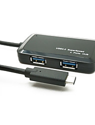 Yuankaida jy-sh009a хаб usb 3.1 тип-c 4 порта 5gbps с кабелем 0,15 м