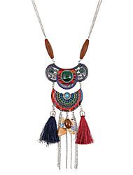 Women's Choker Necklaces Pendant Necklaces Statement Necklaces Metal Alloy Resin RhinestoneBohemian Punk Euramerican Handmade Fashion