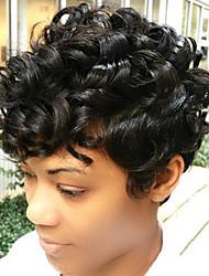 economico -Parrucche dei capelli umani alla moda dei capelli ricci brevi di alta qualità alla moda