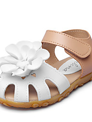 Girls' Sandals Comfort Flower Girl Shoes Leatherette Summer Fall Wedding Outdoor Party & Evening Dress Comfort Flower Girl ShoesApplique