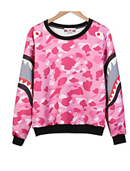 Women's Petite Daily Tops Sweatshirt Floral Full Finger Round Neck strenchy Polyester 100%Cotton Long Sleeve Spring Fall