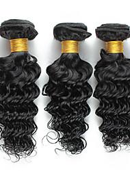 3Pcs/150g 8-26inch Brazilian Virgin Deep Curly Hair Natural Black Human Hair Weaves