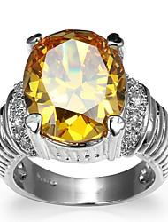 Ring Settings Ring  Luxury Elegant Noble Zircon  Women's Oval  Rhinestone Euramerican Fashion Birthday Wedding Movie Gift Jewelry
