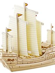 baratos -Robotime Quebra-Cabeças 3D Quebra-Cabeça Modelos de madeira Barco de Guerra Navio Faça Você Mesmo Madeira Madeira Natural Crianças Unisexo