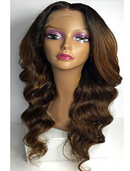 T1B/30 Chestnut Brown Body Wave Hair Wigs Glueless Full Lace Front Indian Human Virgin Hair Wigs Middle Part For Black Women With Baby Hair