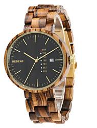 Homens Relógio Esportivo Relógio de Moda Único Criativo relógio Relógio Casual Relógio Madeira Chinês Quartzo Calendário Impermeável
