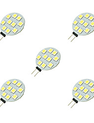 2W G4 LED à Double Broches 10 diodes électroluminescentes SMD 5050 Blanc 160lm 6000-6500K DC 12V